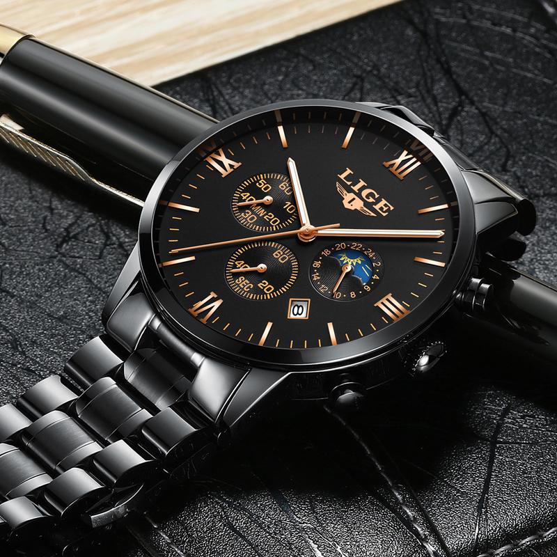 LIGE-Watch-Men-Fashion-Sports-Quartz-Clock-Mens-Watches ...
